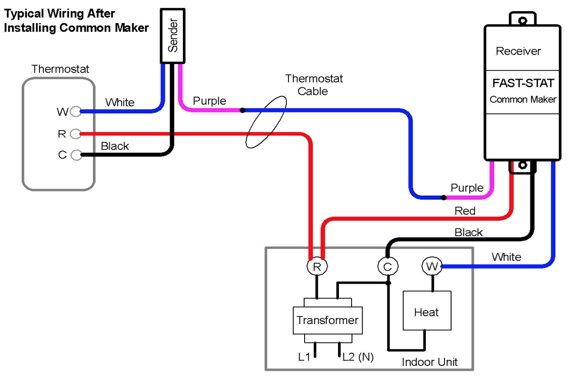 Fast-Stat 1000 and Common Maker - Installation Guide – Simple on 4 wire switch diagram, 4 wire alternator diagram, 4 wire solenoid diagram, 4 wire voltage regulator diagram, 4 wire lamp diagram, 4 wire ignition diagram, 4 wire furnace diagram, 4 wire sensor diagram, 4 wire fan diagram, 4 wire relay diagram, 4 wire motor diagram, 4 wire timer diagram, 4 wire thermometer diagram, 4 wire actuator diagram, 4 wire thermocouple diagram, 4 wire zone valve diagram,